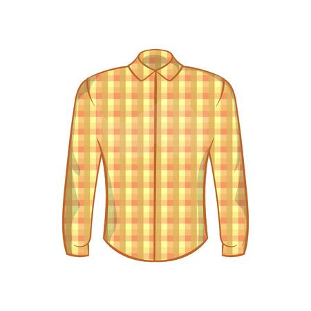 lumberjack shirt: Lumberjack shirt icon in cartoon style on a white background