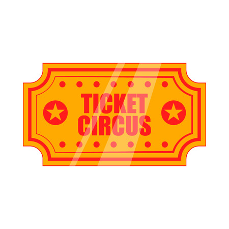 circus ticket: Circus show paper tickets icon in cartoon style on a white background