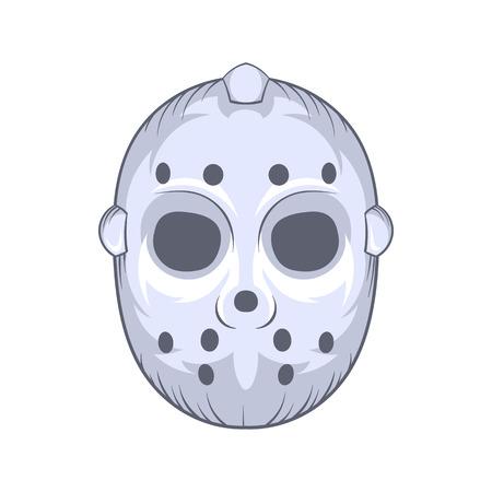 hockey goalie: Hockey goalie mask icon in cartoon style on a white background Illustration