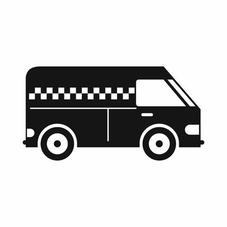 minibus: Minibus taxi icon in simple style isolated on white background Illustration