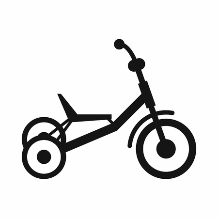 three wheel: Tricycle icon in simple style isolated on white background