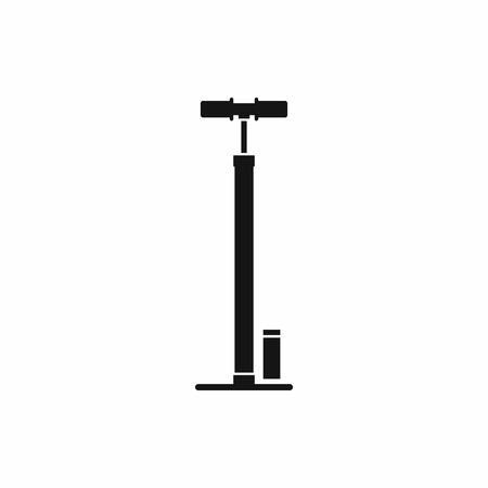 bicycle pump: Bicycle pump icon in simple style isolated on white background Illustration