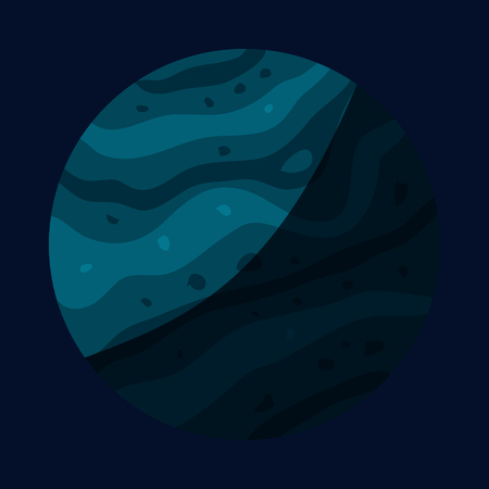 celestial body: Uranus planet icon in cartoon style isolated on dark background