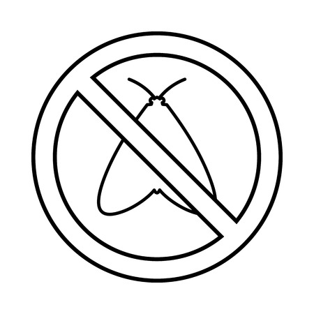 moth: No moth sign icon in outline style isolated on white background
