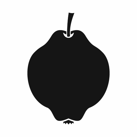 quince: Quince fruit icon in simple style isolated on white background Illustration