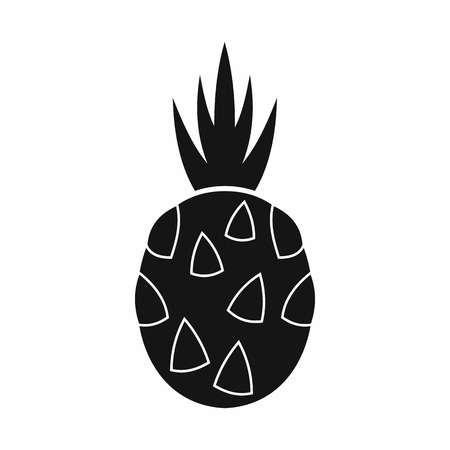 Thai dessert: Pitaya, dragon fruit icon in simple style isolated on white background Illustration