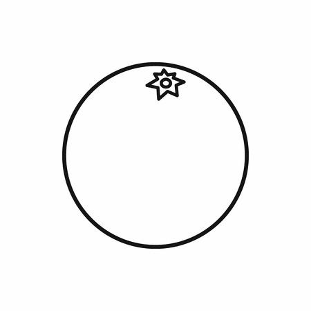 mandarins: Mandarin icon in outline style isolated on white background Illustration