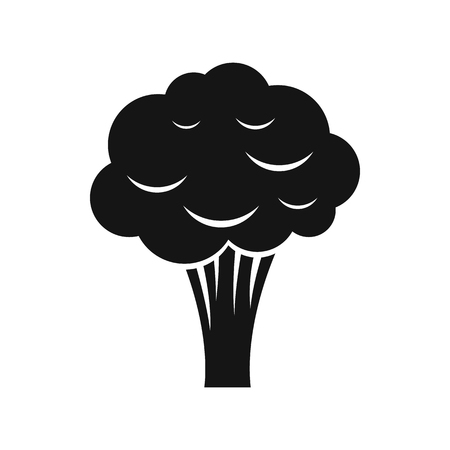 wholesome: Broccoli icon in simple style isolated on white background
