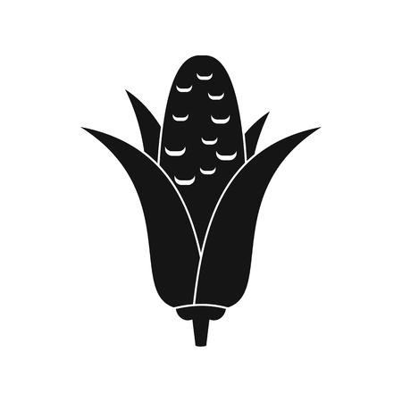 corncob: Corncob icon in simple style isolated on white background Illustration