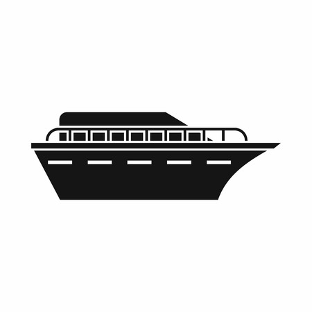 sea transport: Powerboat icon in simple style isolated on white background. Sea transport symbol