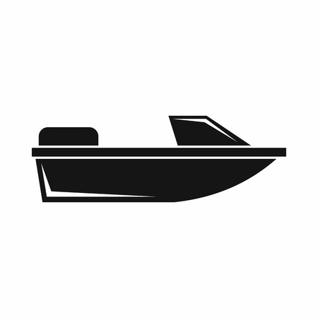 sea transport: Sports powerboat icon in simple style isolated on white background. Sea transport symbol