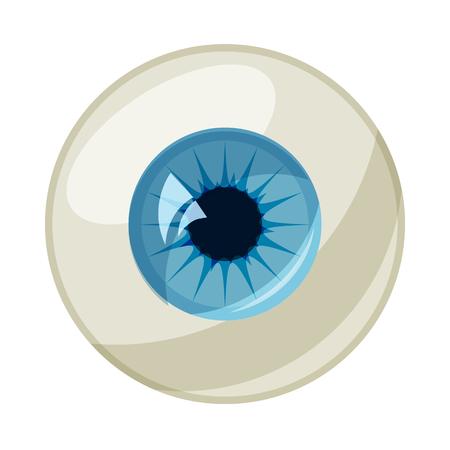 eye ball: Human eye ball icon in cartoon style on a white background