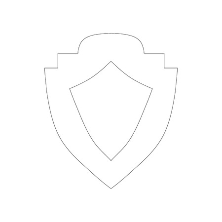 honour guard: Shield icon in outline style isolated on white background