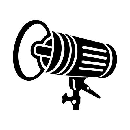 studio lighting: Studio lighting equipment icon in simple style on a white background Illustration