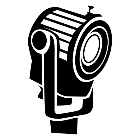 floodlight: Floodlight icon in simple style on a white background Illustration