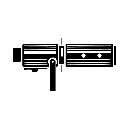 lighting equipment: Studio lighting equipment icon in simple style on a white background Illustration