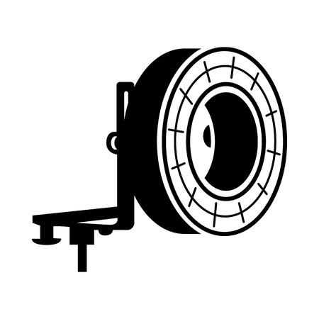 studio lighting: Studio lighting icon in simple style on a white background Illustration