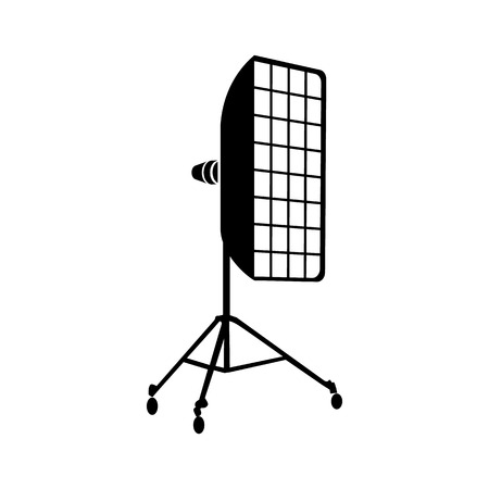 stripbox: Photographic studio equipment icon in simple style on a white background Illustration