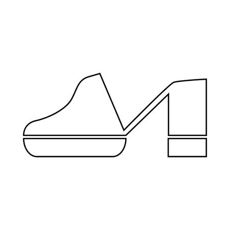 Clogs shoe icon in outline style on a white background Vettoriali