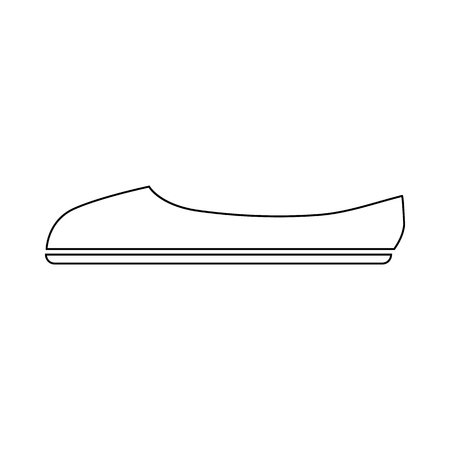 Ballet shoe icon in outline style on a white background Illustration