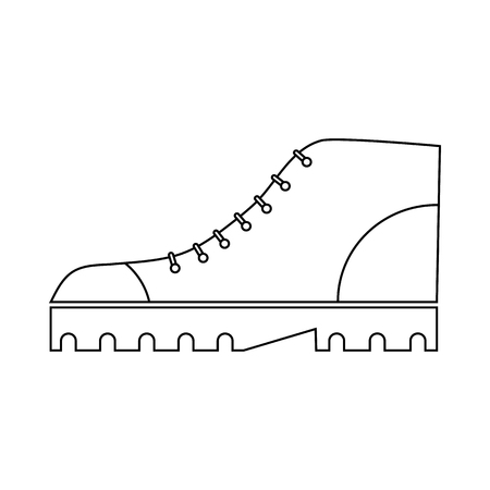 Boot icon in outline style on a white background