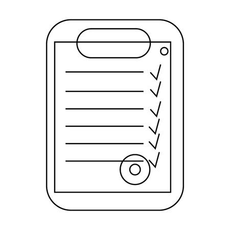 documentation: Plan document icon in outline style isolated on white background. Documentation symbol Illustration