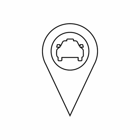 geo: Geo taxi icon in outline style isolated on white background