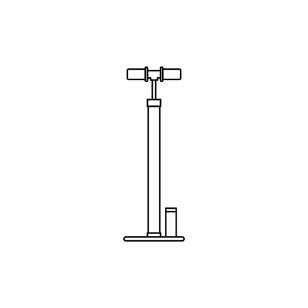 bicycle pump: Bicycle pump icon in outline style isolated on white background