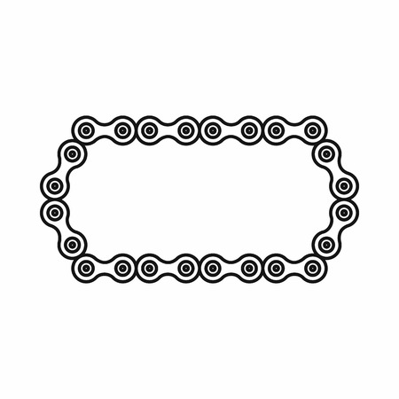 grease: Bicycle chain icon in outline style isolated on white background Illustration