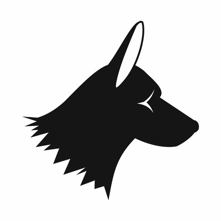 collie: Collie dog icon in simple style isolated on white background. Animals symbol Illustration
