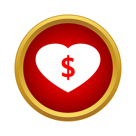 love of money: Love money icon in simple style isolated on white background