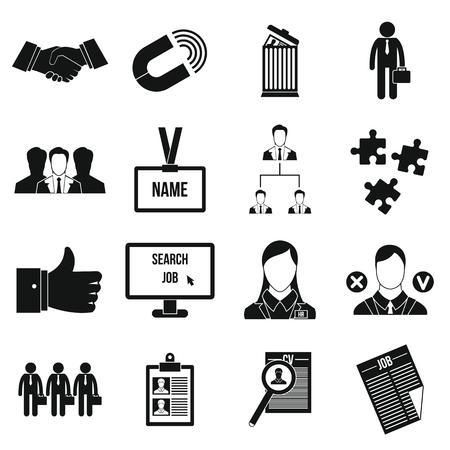 Human resource management pictogrammen in eenvoudige stijl voor elk model Vector Illustratie