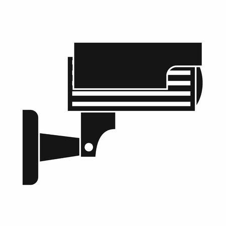 crime prevention: Surveillance camera icon in simple style isolated on white background