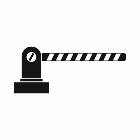 Icono Aparcamiento barrera en un estilo sencillo aislado en el fondo blanco