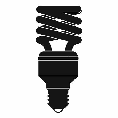 kilowatt: Energy saving bulb icon in simple style isolated on white background Illustration