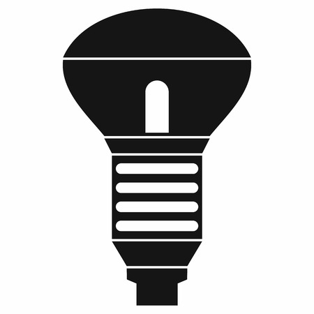 led bulb: Led bulb icon in simple style isolated on white background