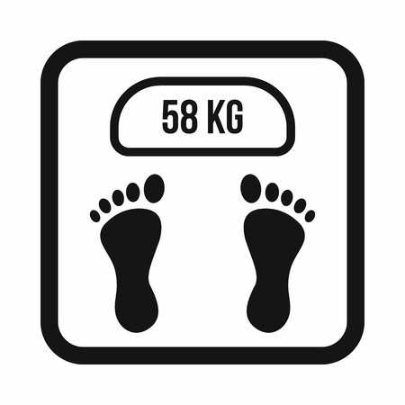 analog weight scale: Weight scale icon in simple style isolated on white background Illustration