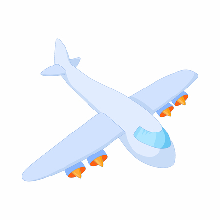 boeing: Cargo plane icon in cartoon style on a white background