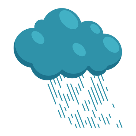 heavy rain: Heavy rain icon in cartoon style on a white background