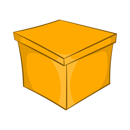 craft product: Square box icon in cartoon style isolated on white background. Production and packaging symbol