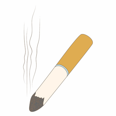 murderer: Cigarette butt icon in cartoon style isolated on white background. Smoking symbol