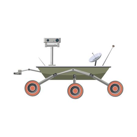 aeronautics: Mars exploration  icon in cartoon style on a white background