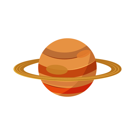 saturn planet: Saturn planet icon in cartoon style on a white background Illustration