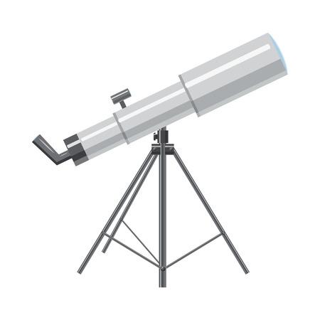 star cartoon: icono de telescopio en estilo isométrico 3d sobre un fondo blanco