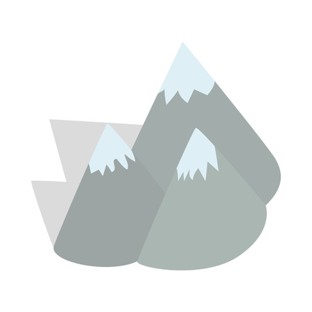polar climate: Moutains, Sweden icon in isometric 3d style on a white background