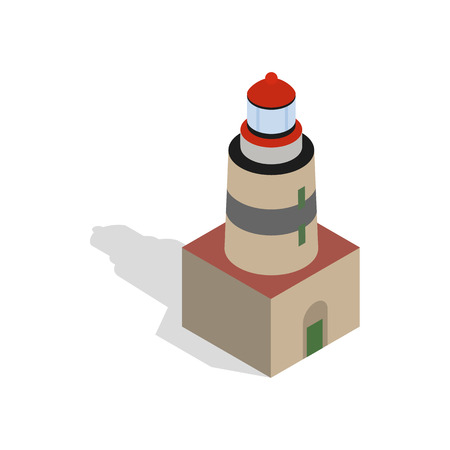 navigational light: Falsterbo lighthouse, Sweden icon in isometric 3d style on a white background