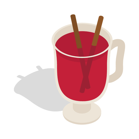 swedish: Swedish glogg icon in isometric 3d style on a white background Illustration