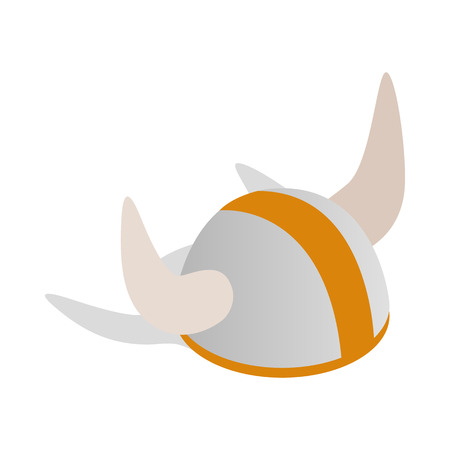 swedish: Swedish viking helmet icon in isometric 3d style on a white background