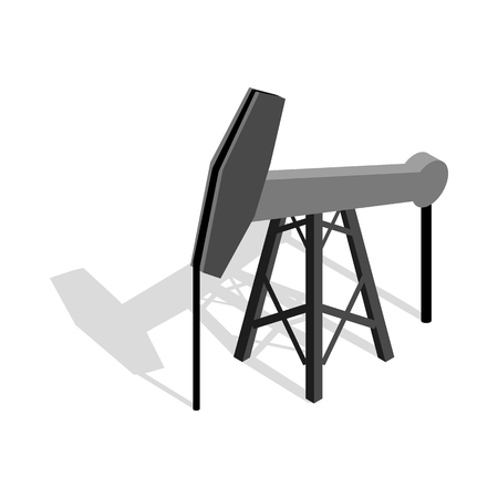 oilfield: Oil pump icon in isometric 3d style on a white background Illustration