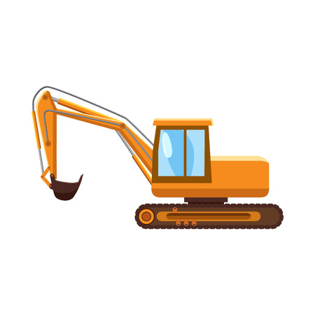 Orange digger icon in cartoon style on a white background